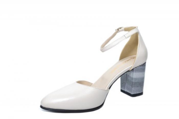 Pantofi Dama Piele Naturala Bej Moda Prosper Iris D02030 [2]