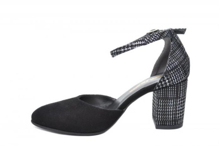 Pantofi Dama Piele Naturala Negri Moda Prosper Iris D02031 [1]