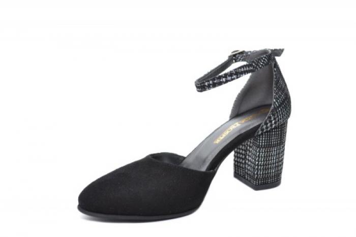 Pantofi Dama Piele Naturala Negri Moda Prosper Iris D02031 [2]