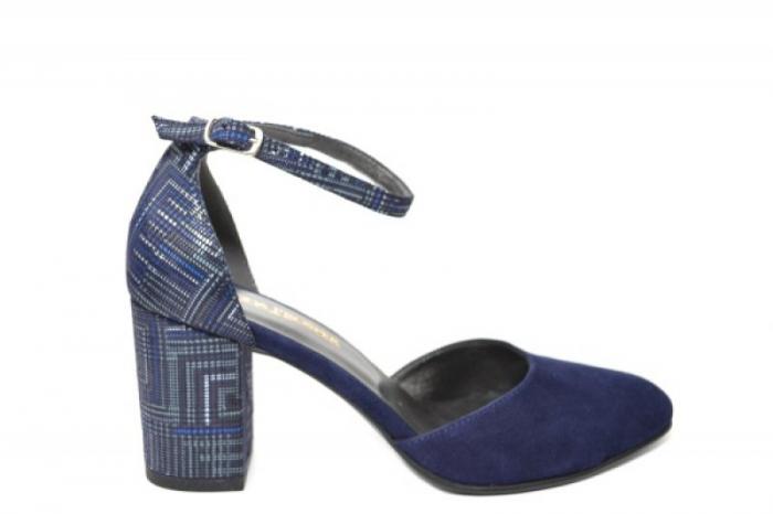 Pantofi Dama Piele Naturala Bleumarin Moda Prosper Iris D02032 [3]