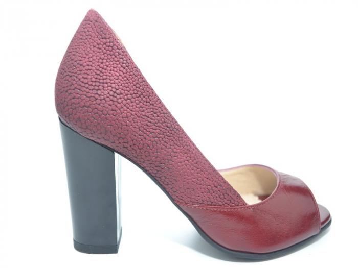 Pantofi cu toc Piele Naturala Grena Ivonna D01151 0