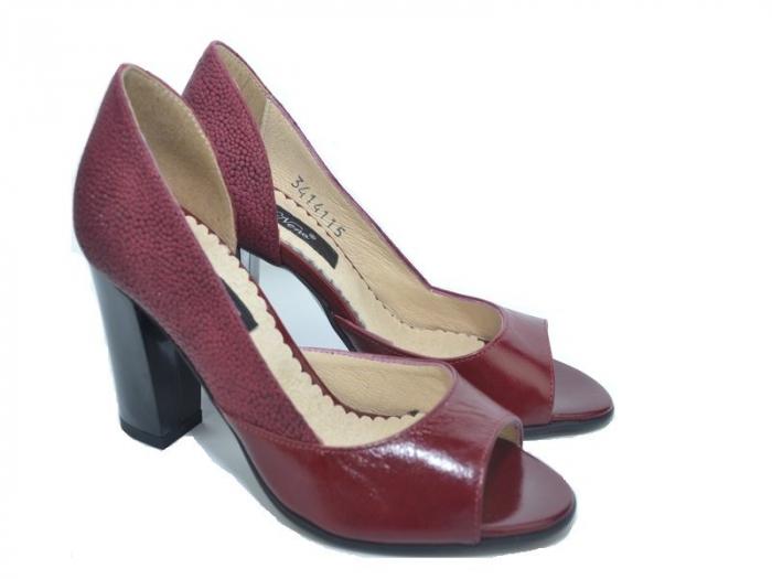 Pantofi cu toc Piele Naturala Grena Ivonna D01151 5