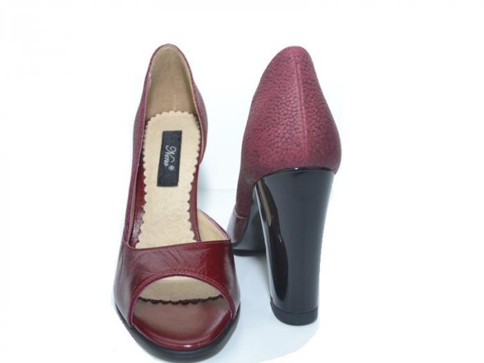 Pantofi cu toc Piele Naturala Grena Ivonna D01151 7