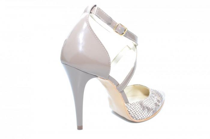 Pantofi Dama Piele Naturala Grej Jayne D01861 3
