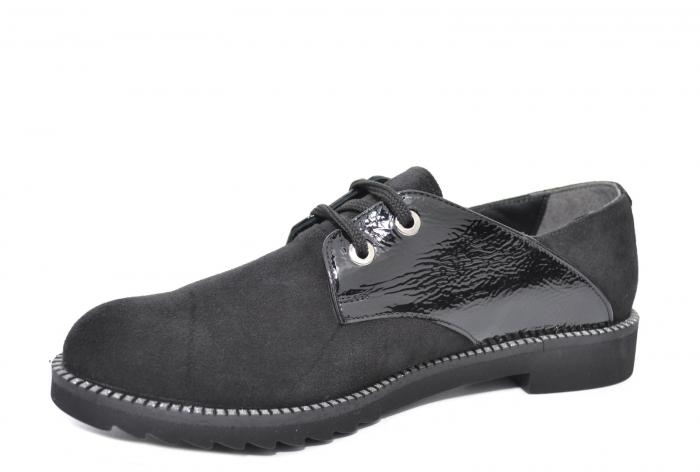 Pantofi Oxford Piele Naturala Negri Jess D02079 2
