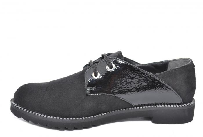 Pantofi Oxford Piele Naturala Negri Jess D02079 1