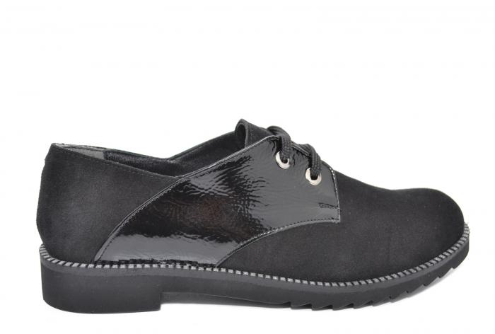 Pantofi Oxford Piele Naturala Negri Jess D02079 0