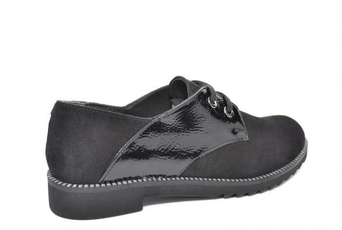 Pantofi Oxford Piele Naturala Negri Jess D02079 3