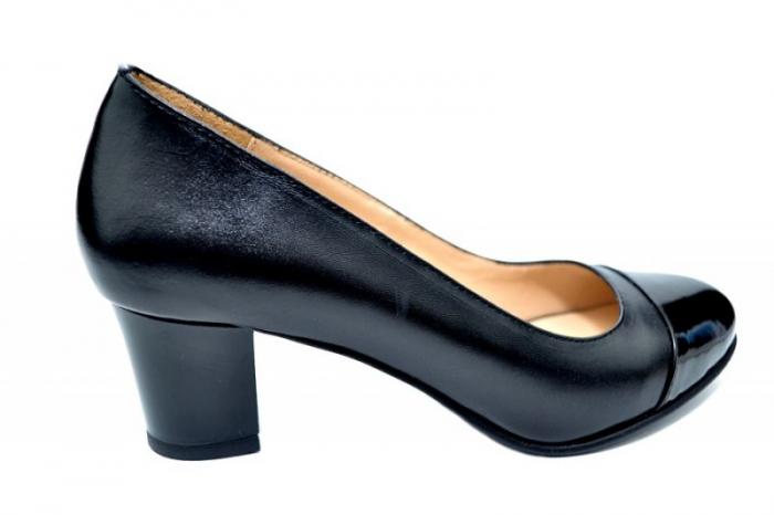Pantofi cu toc Piele Naturala Negri Moda Prosper Jiba D01735 0