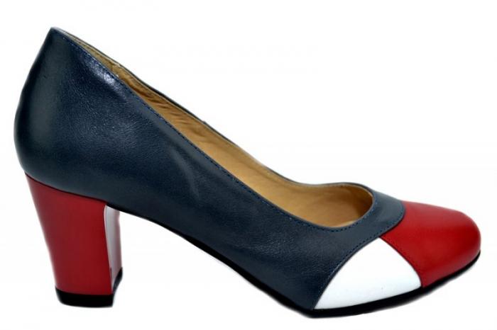 Pantofi cu toc Piele Naturala Bleumarin Joelle D01322 0
