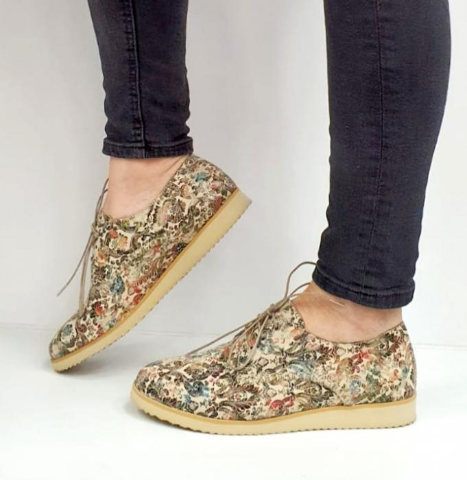 Pantofi Casual Piele Naturala Kalista D02038 2
