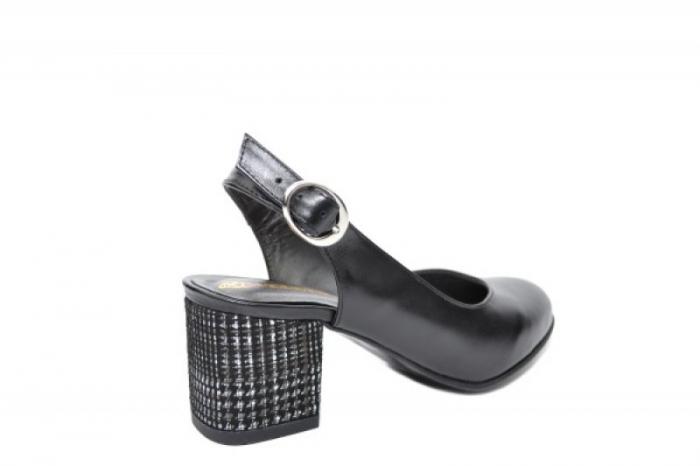 Pantofi Dama Piele Naturala Negri Moda Prosper Kara D02033 3