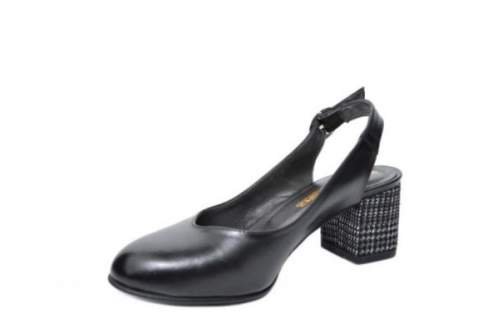 Pantofi Dama Piele Naturala Negri Moda Prosper Kara D02033 2