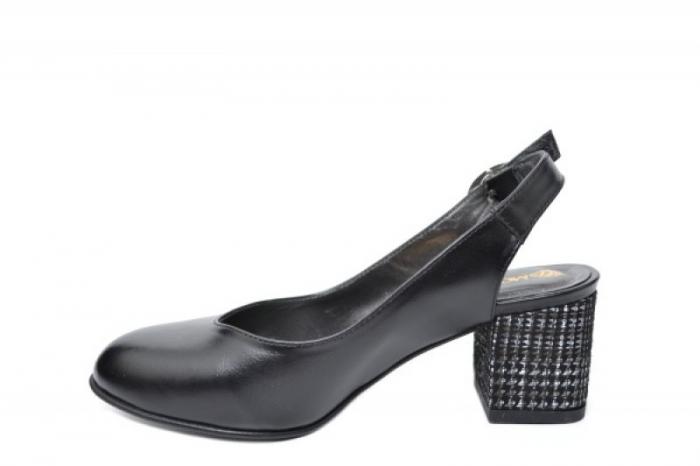 Pantofi Dama Piele Naturala Negri Moda Prosper Kara D02033 1