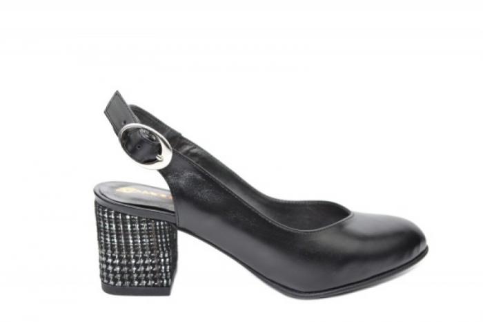 Pantofi Dama Piele Naturala Negri Moda Prosper Kara D02033 0