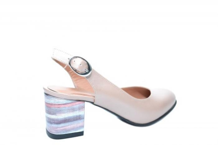Pantofi Dama Piele Naturala Nude Moda Prosper Kara D02034 3