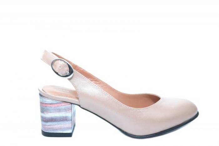 Pantofi Dama Piele Naturala Nude Moda Prosper Kara D02034 0