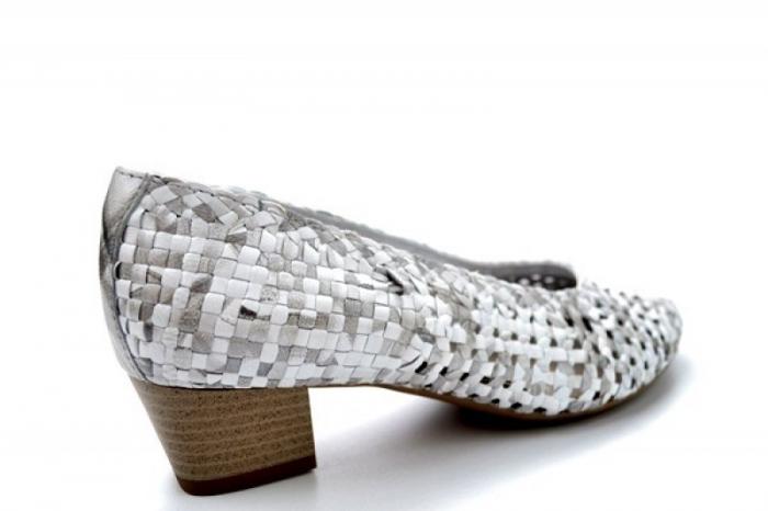 Pantofi cu toc Piele Naturala Gri Ara Katya D01138 2