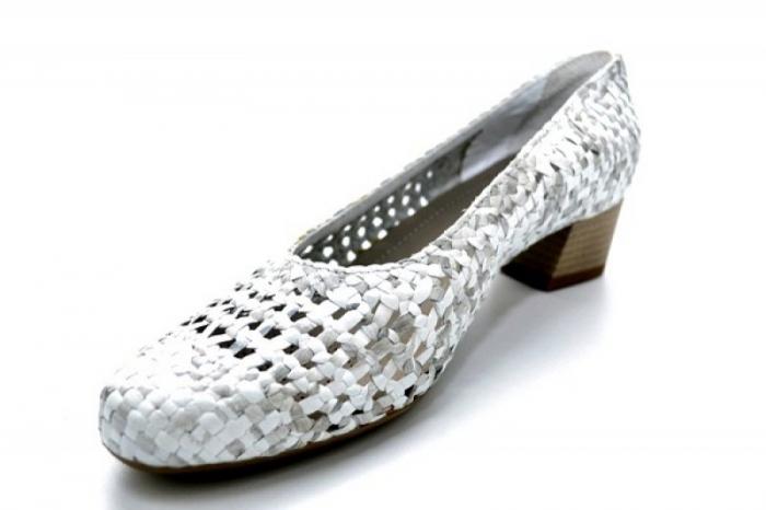 Pantofi cu toc Piele Naturala Gri Ara Katya D01138 3