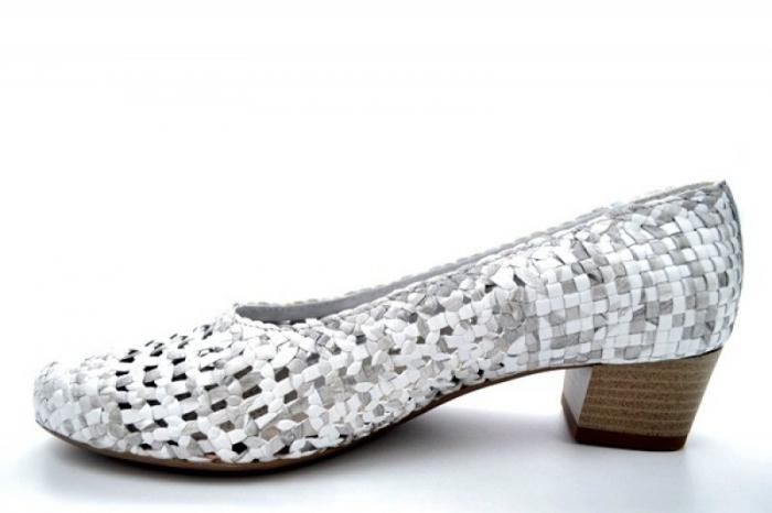 Pantofi cu toc Piele Naturala Gri Ara Katya D01138 1