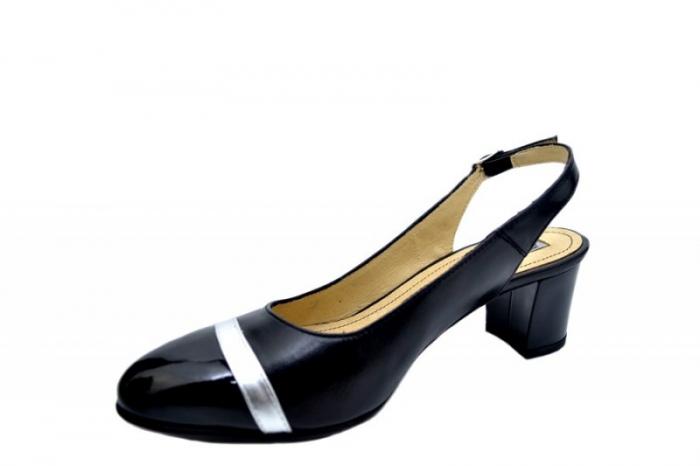Pantofi Dama Piele Naturala Negri Kelsey D01565 2