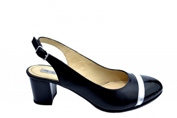 Pantofi Dama Piele Naturala Negri Kelsey D01565 0