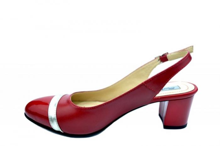 Pantofi Dama Piele Naturala Rosii Kelsey D01567 [1]