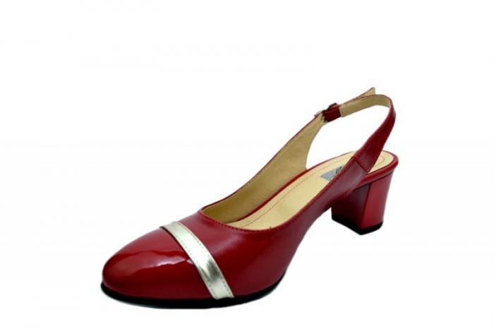 Pantofi Dama Piele Naturala Rosii Kelsey D01567 [2]