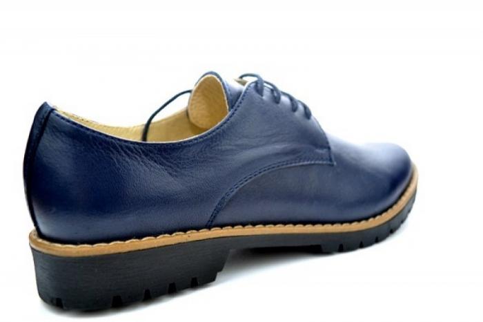Pantofi Casual Piele Naturala Bleumarin Kristine D01113 2
