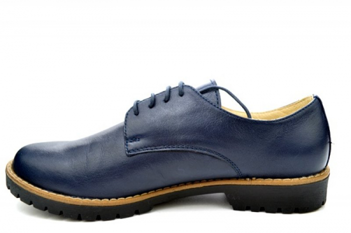 Pantofi Casual Piele Naturala Bleumarin Kristine D01113 1