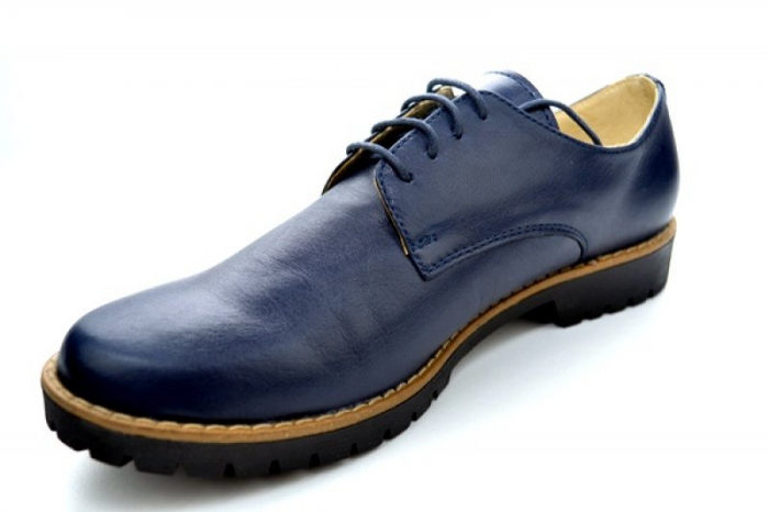 Pantofi Casual Piele Naturala Bleumarin Kristine D01113 3