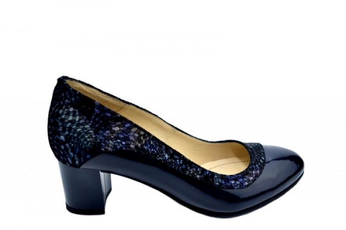 Pantofi cu toc Piele Naturala Bleumarin Lindsey D01556 0
