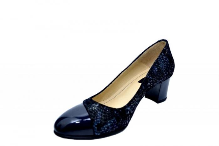 Pantofi cu toc Piele Naturala Bleumarin Lindsey D01556 2