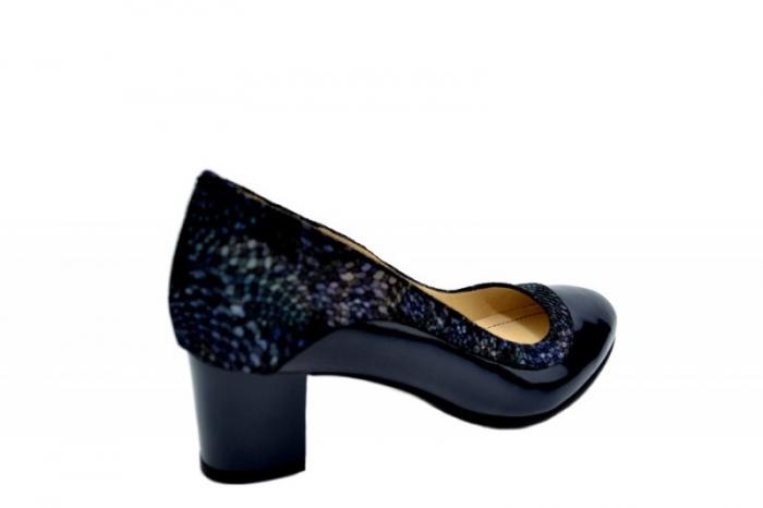 Pantofi cu toc Piele Naturala Bleumarin Lindsey D01556 3