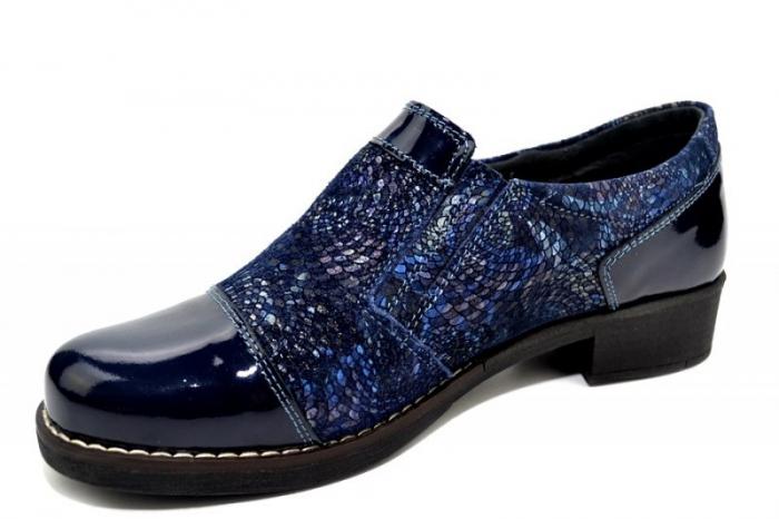 Pantofi Casual Piele Naturala Bleumarin Lucille D01276 1