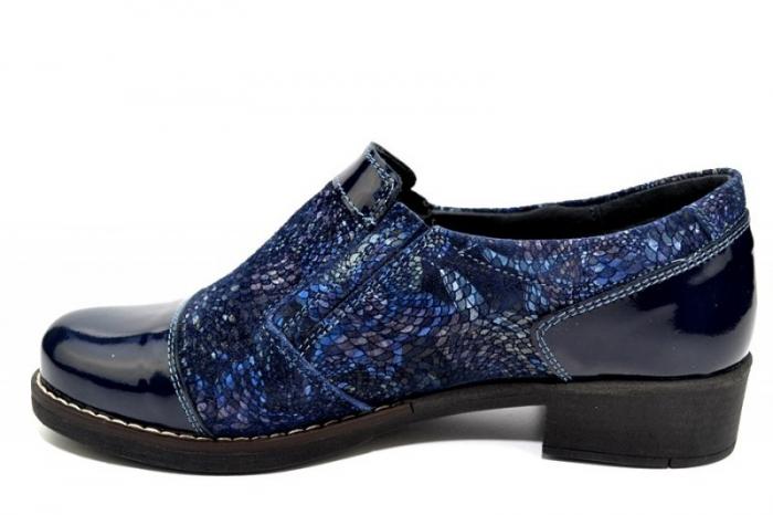 Pantofi Casual Piele Naturala Bleumarin Lucille D01276 2