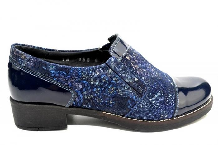 Pantofi Casual Piele Naturala Bleumarin Lucille D01276 3