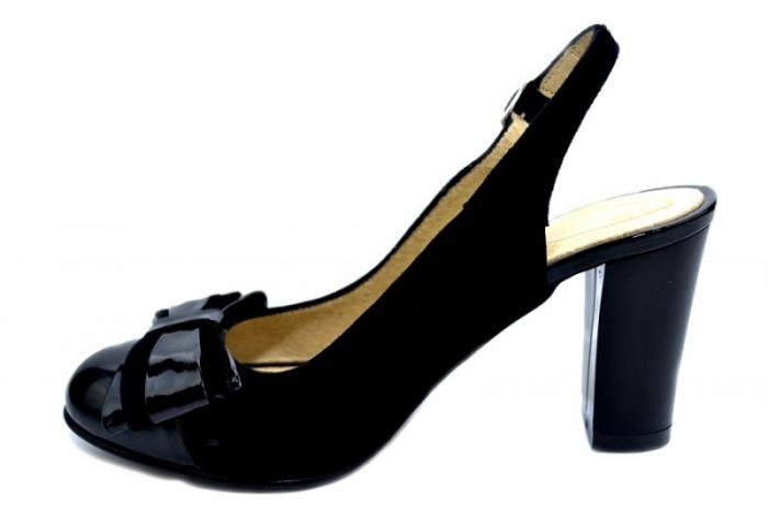 Pantofi Dama Piele Naturala Negri Moda Prosper Luna D01284 1