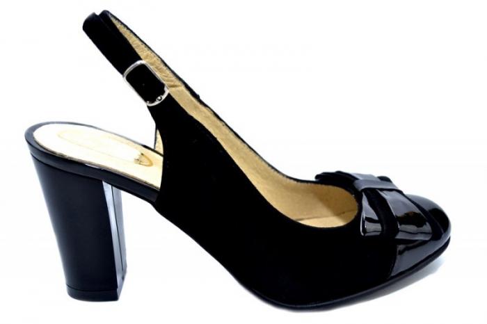 Pantofi Dama Piele Naturala Negri Moda Prosper Luna D01284 0