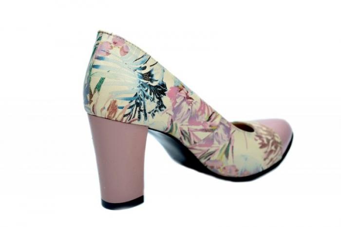 Pantofi cu toc Piele Naturala Roz Moda Prosper Madonna D01624 3