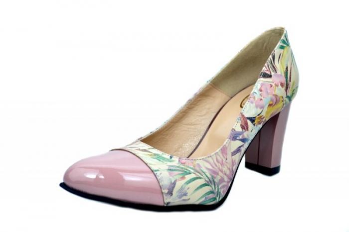 Pantofi cu toc Piele Naturala Roz Moda Prosper Madonna D01624 2