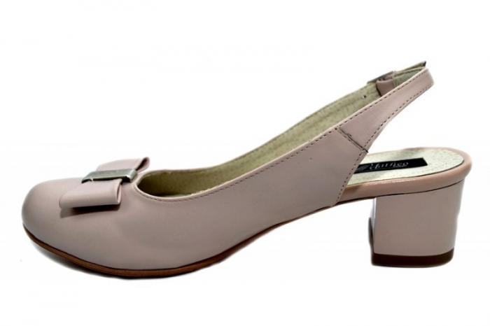 Pantofi Dama Piele Naturala Bej Magdalena D01298 1