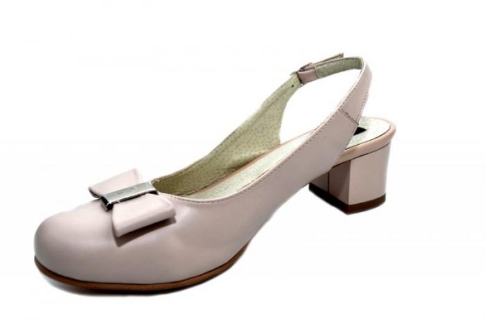 Pantofi Dama Piele Naturala Bej Magdalena D01298 2