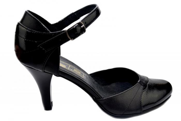 Pantofi Dama Piele Naturala Negri Marta D01343 0