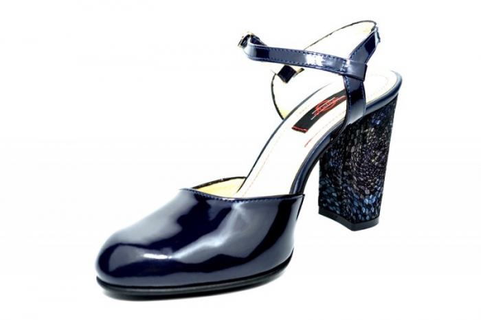 Pantofi Dama Piele Naturala Bleumarin Matheo D01827 2