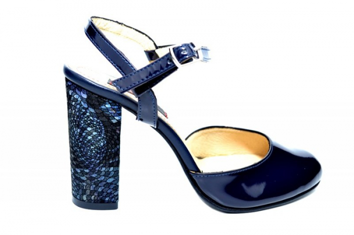 Pantofi Dama Piele Naturala Bleumarin Matheo D01827 0