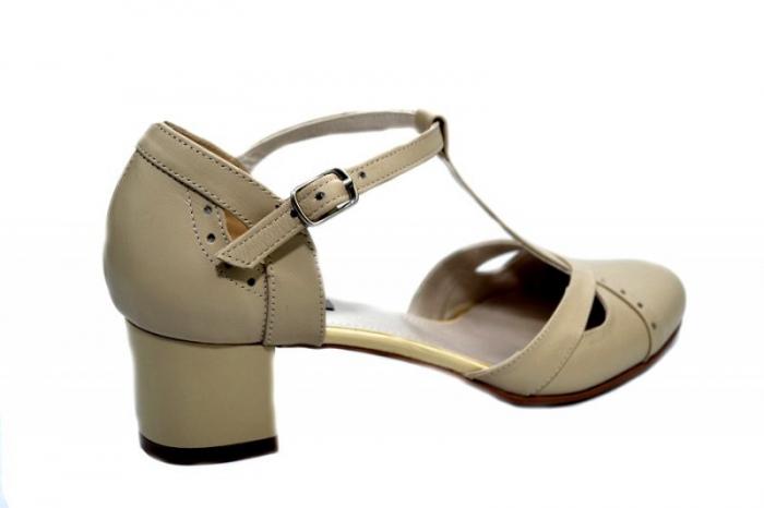 Pantofi Dama Piele Naturala Bej Helene D01296 [3]