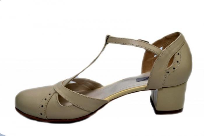 Pantofi Dama Piele Naturala Bej Helene D01296 [1]