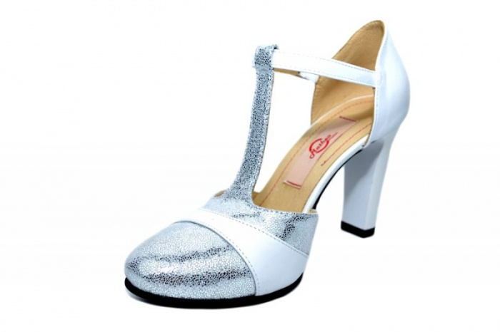 Pantofi Dama Piele Naturala Albi Milena D01836 2