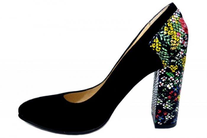 Pantofi cu toc Piele Naturala Moda Prosper Melisandre D01367 1